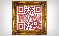 Frame a QR coded link to your favorite painting or other art piece.