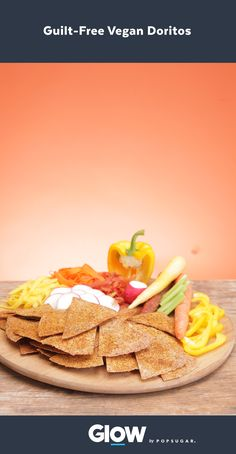 Make these baked vegan Doritos (with ingredients you can pronounce!) at home for a snack or for your next party!