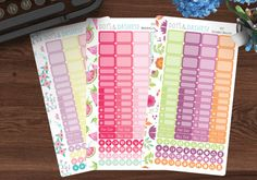 This listing is for a single sheet of TEENY TINY sampler stickers for the personal size planner (3.75x6.75) from the Spring & Summer 2017 Collection. These stickers can be used in other planner such as the happy planner, erin condren, and large kikki k planners if you like smaller stickers to save on space. Please check the sizes to be sure it can work for you. Boxes are: .73x.5, .73x.25, and .25x.25 Also comes with one strip stickers that measures 6.75x.5  Single sheets 3.75x6.75 If youd...