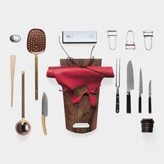 Malle W. Trousseau Kitchen Set (43 Piece) -  43 of the best kitchen utensils from around the globe. [MoMA]