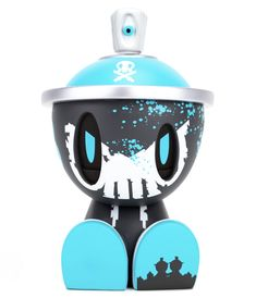 Lil Qwiky Battle Damaged Heisenberg Blue Edition Canbot by Quiccs x Czee x Clutter Vinyl Toys, Vinyl Art, Heisenberg, Designer Toys, Clutter, Battle, The Creator, Drop, Blue