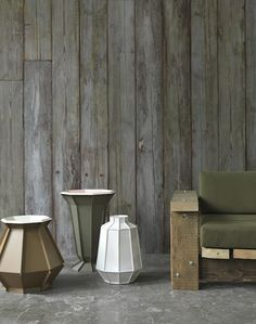 Arthur Slenk; Piet Hein Eek; Piet Boon; Merci; Rick Vintage; NLXL; Scrapwood Wallpaper; Tin Wallpaper; Concrete Wallpaper; Brooklyn Tins; Wa...