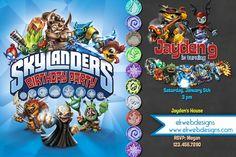 Skylanders Personalized Birthday Invitation - Skylanders video game inspired Invitation