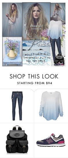 """Sem título #1952"" by normalee ❤ liked on Polyvore featuring Disney, Dsquared2, Vince, Tory Burch and New Balance"