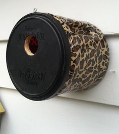 Coffee container birdhouse! http://www.etsy.com/shop/BirdShopCafe