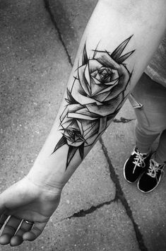 Illustrition black rose forearm tattoo - 100 Meaningful Rose Tattoo Designs <3 <3