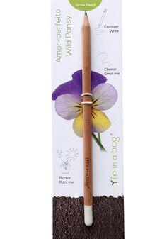 """Grow Pencil es ist eigentlich ein Bleistift, doch mit der Samenkappe am Ende kannst Du ihn nachdem Du ihn """"fertig"""" geschrieben hast einpflanzen. Anleitung  Wenn der Stift nur noch ein Stummel ist und es keinen Spaß mehr macht damit zu..."""