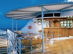 Seabourn Pride Sky Bar and Grill #cruises #dining
