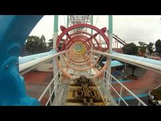 Ultra Twister Roller Coaster POV Front Seat Togo Shuttle Mitsui Greenland Japan HD 1080