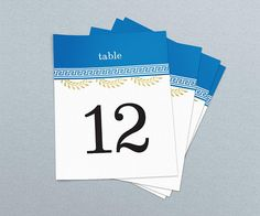 Greek Theme Wedding & Event Table Numbers Printable Table