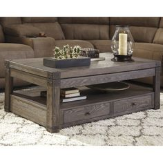 Anchor the parlor seating group with this chic coffee table, perfect for displaying a glowing array of candles or resting a tray of hot cocoa and treats for movie night.