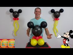 centros de mesa de mickey mouse - decoracion de mickey mouse para cumpleaños - decoracion con globos - YouTube Mickey Mouse Birthday Decorations, Mickey Mouse Balloons, Mickey Mouse Centerpiece, Fiesta Mickey Mouse, Mickey Mouse Parties, Balloon Decorations Party, Mickey Party, Mickey First Birthday, Mickey 1st Birthdays