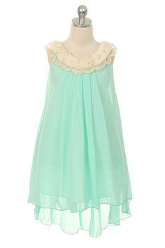 Lucy Quinn- Flower Girl Dress in Mint
