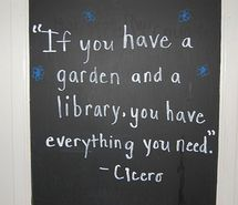 garden & library, quote