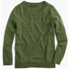 J.Crew Tippi Sweater (140 CAD) ❤ liked on Polyvore featuring tops, sweaters, j.crew, shirts, tops/outerwear, layering shirts, j crew top, merino sweater, layered sweater and sleeve shirt