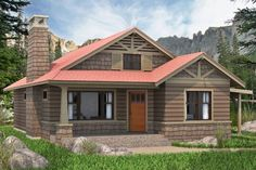 Perhaps the perfect 2-bedroom cabin or small country home. Full of character, this well-appointed home provides all of life's necessities with the right measure of comfort. House Plan No.595009 House Plans by WestHomePlanners.com