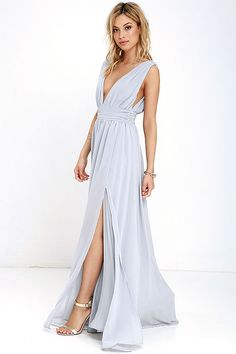934406d4555 Heavenly Hues Light Grey Maxi Dress