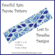 Fanciful Rain Peyote Bracelet Pattern