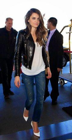 Street style   Edgy black leather jacket