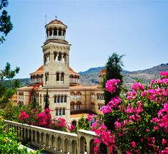 Absolutely beautiful (and oh so sunny!).  Aegina, Greece - I believe this is a monastery.