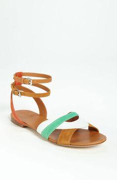 Marc By Marc Jacobs Color Weave Sandal in Orange (orange/ tan) | Lyst