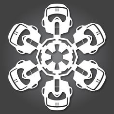 Darth Vader Paper Winter Snowflake