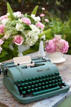 typewriter. I have *always* wanted one of these. In this color
