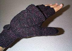 Broad Street Mittens (fingerless with flip-top mitten flap) FREE knitting pattern by Janis Cortese from Knitty    AllFreeKnitting.com