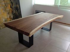 Dinning exotic wood table