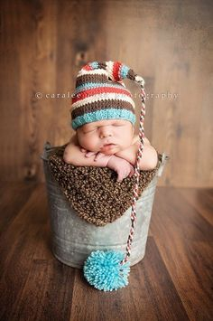 Baby boy hat by Yarning2BMe photography by Carlee Case