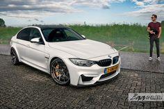 image of Alpine White BMW With Vorsteiner Wheels And Aero By Baan Velgen Image 1 Bmw X6 White, M3 Sedan, F80 M3, Alpine White, Bmw Love, Badass, Bmw M4, Performance Parts, Carbon Fiber