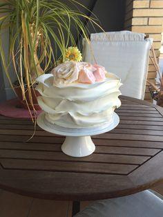 Tarta fondant con flores de pasta de goma