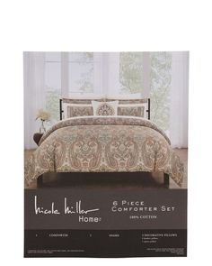 alternate image #1 of Evelyn Paisley Comforter Set