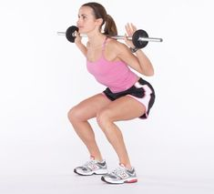 WEIGHTED SQUATS: Define and strengthen your thighs and butt