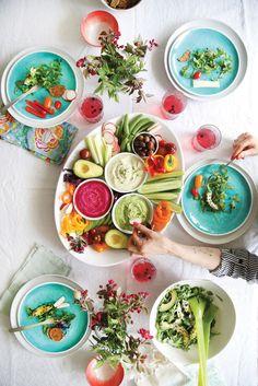 Veggie Platter with 3 Hummus Recipes | #glutenfree #vegan #healthy #vegetarian #hummus #summer | Pure Ella | www.pureella.com