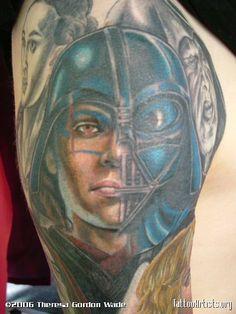 star wars tattoos | darth vader. star wars. - Tattoo Artists.org Nerdy Tattoos, Star Tattoos, Star Wars Tattoo, Star War 3, Flash Art, Love Stars, I Tattoo, Tattoo Artists, Old School