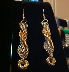 Double Spiral Chainmaille Earrings
