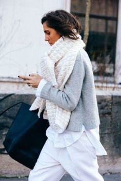 layers, sweater, scarf, слои, свитер, большой шарф