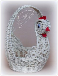 Hobbies And Crafts, Diy And Crafts, Arts And Crafts, Paper Weaving, Newspaper Crafts, Truffles, Paper Art, Crochet Earrings, Projects To Try