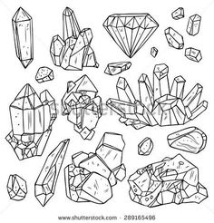 Free Coloring Page - Gems and Minerals | Samantha C George ...