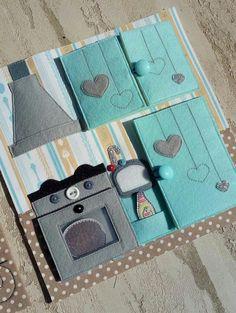 Tarih Arşivi on - Autumn Tutorial and Ideas Diy Quiet Books, Baby Quiet Book, Felt Quiet Books, Quiet Book Templates, Quiet Book Patterns, Felt Doll House, Book Quilt, Busy Book, Book Activities