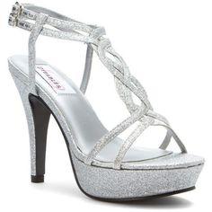 Gift Dyeables Vivi Womens Platform Sandals Silver Glitter WB