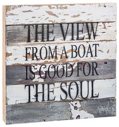 Sweet Bird Wooden Sign - View from a Boat | Bass Pro Shops: The Best Hunting, Fishing, Camping & Outdoor Gear