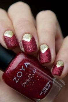 Geometric nail art.  Get ready for some manicure magic as we bring you the hottest nail designs.