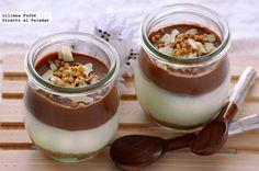 Vasitos de yogur y dos chocolates. Receta de postre - Directo Al Paladar