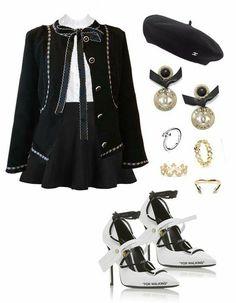 Kpop Fashion Outfits, Stage Outfits, Edgy Outfits, Cute Casual Outfits, Rock Outfits, Fashion Dresses, Classy Teen Fashion, Look Fashion, Korean Fashion