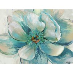 Yosemite Home Decor Full Flower Painting Print on Wrapped Canvas
