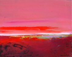 Red Skies at Night by Robert Burridge Abstract Landscape, Abstract Art, Sunset Art, Alcohol Inks, Abstract Expressionism, Night Skies, Acrylics, Color Inspiration, Modern Art