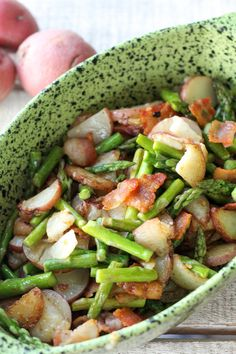 Asparagus Tater Toss - potatoes, bacon and asparagus all in one. SO good!