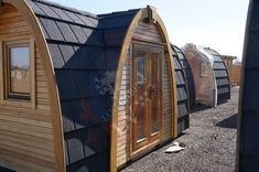Tiny Cabins, Log Cabins, Best Windows, Windows And Doors, Small House Kits, Pods For Sale, Earth Bag Homes, Camping Pod, Timber Structure